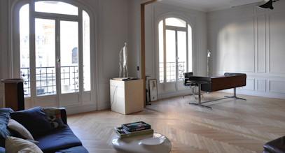 appartement post haussmannien. Black Bedroom Furniture Sets. Home Design Ideas