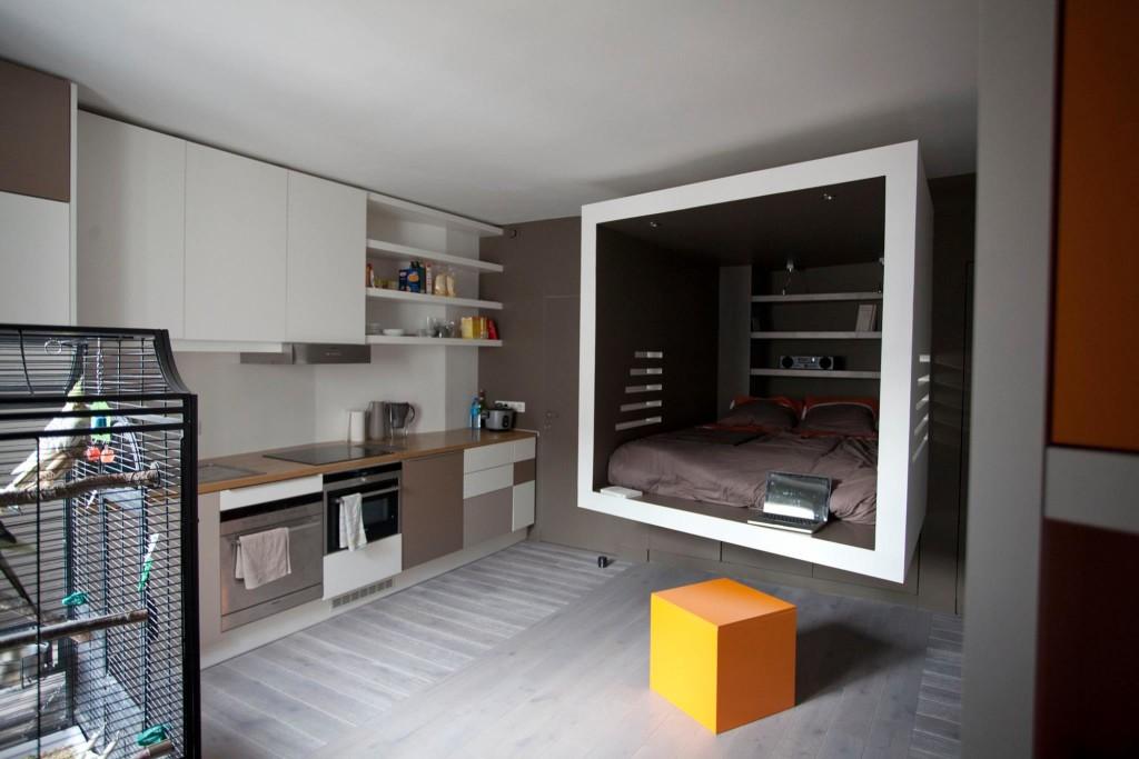 studio refait par huggy dans lefigaro immobilier. Black Bedroom Furniture Sets. Home Design Ideas