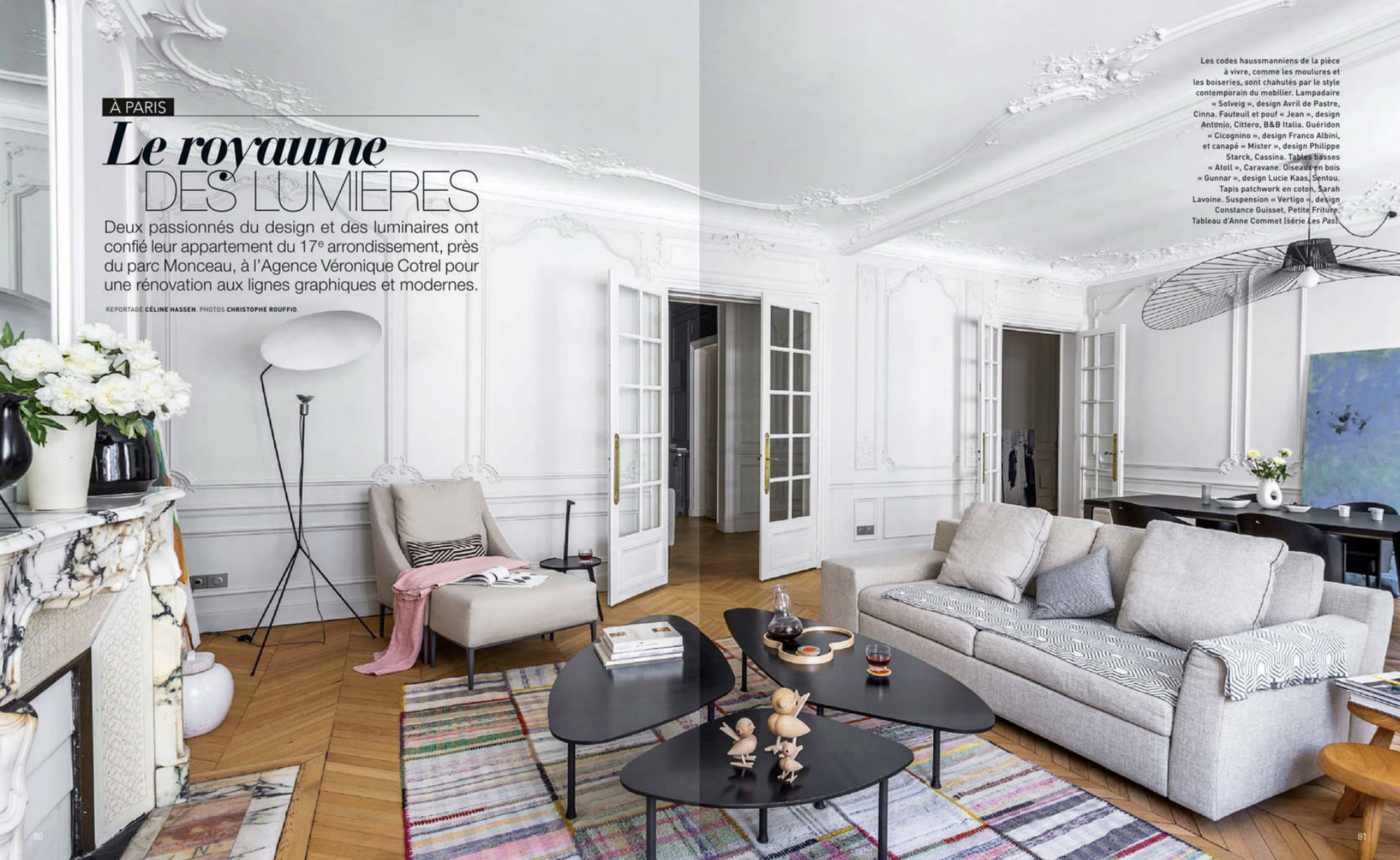 Reportage magazine art et d coration un appartement for Art et deco interieur maison