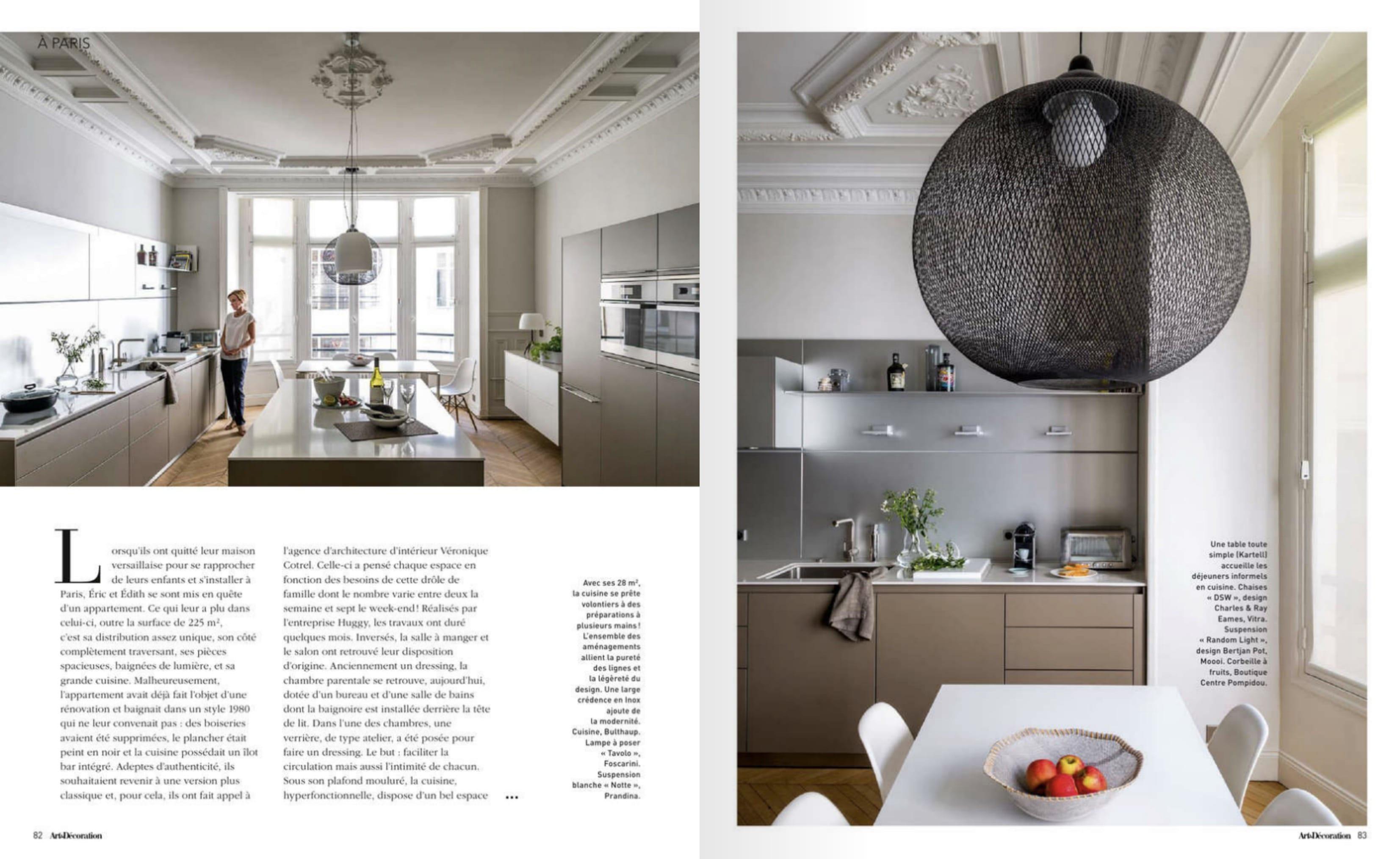 reportage magazine art et d coration un appartement refait par huggy. Black Bedroom Furniture Sets. Home Design Ideas