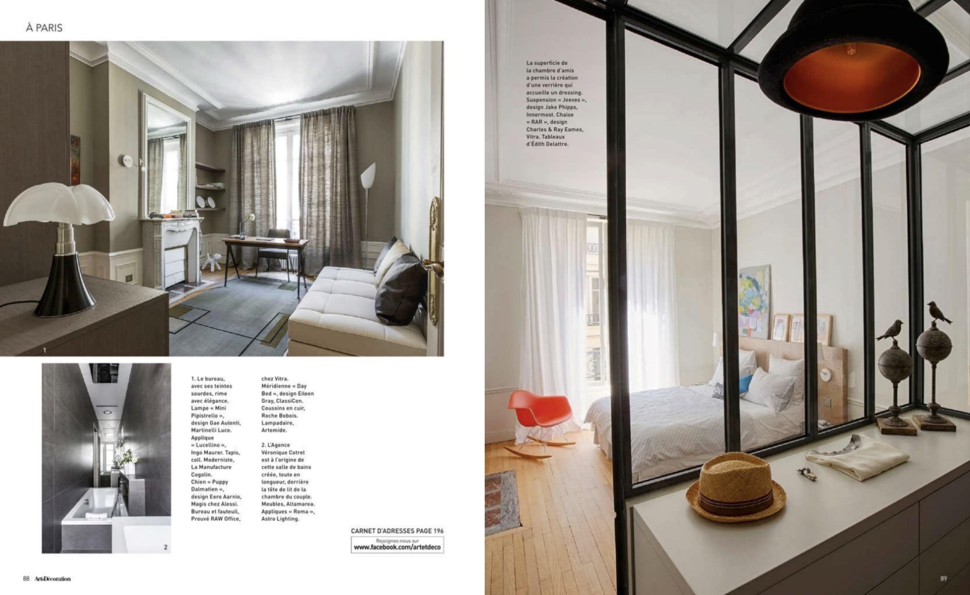 Reportage magazine Art et décoration : un appartement refait ...