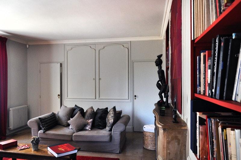 Travaux de rénovation réalisés dans le salon de la maison