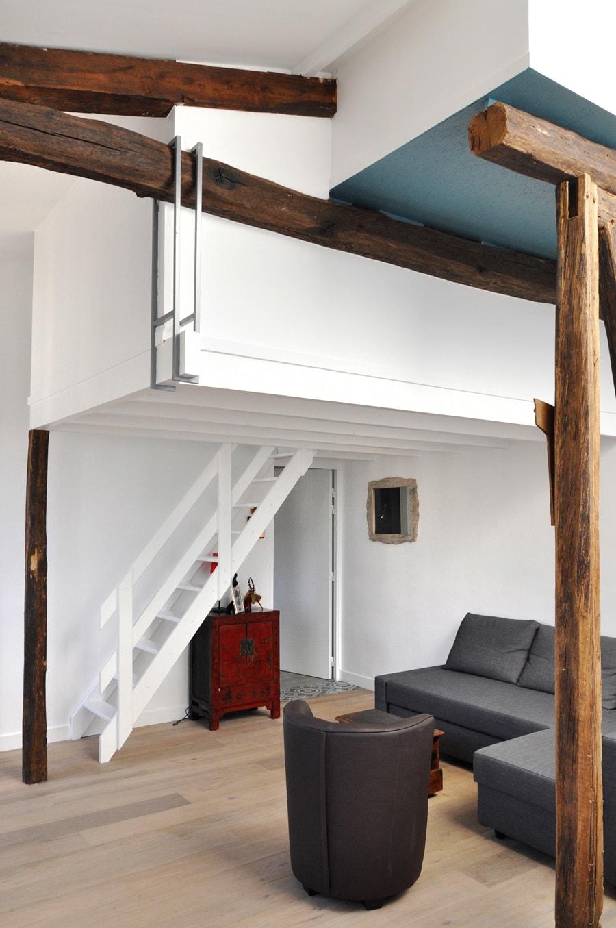 Appartement duplex mansardé rénové