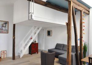 Appartement duplex rénové mansardé