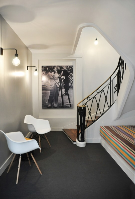 Cage d'escalier interne - vue du bas