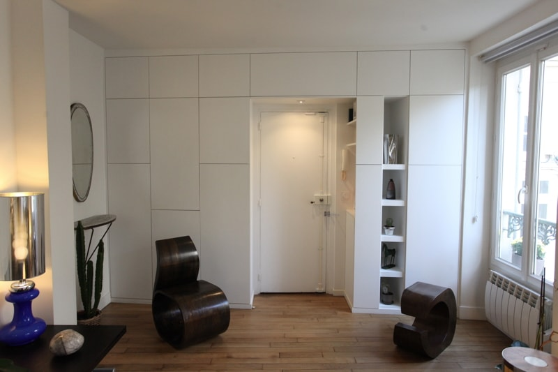 Travaux de r novation d 39 un studio l 39 architecte cyril rheims - Mur de separation interieur ...