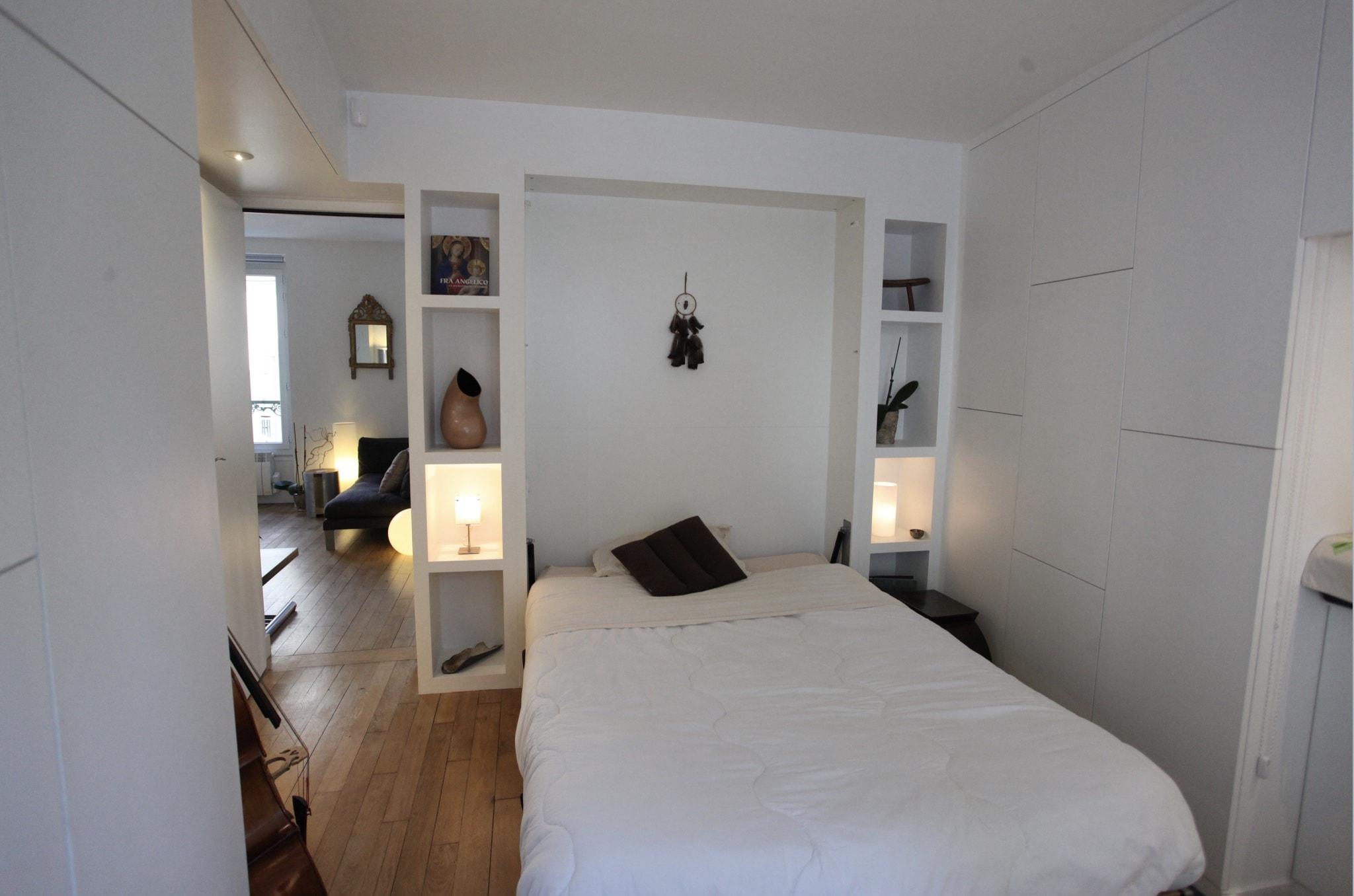 Travaux de r novation d 39 un studio l 39 architecte cyril rheims for Travaux dans un appartement
