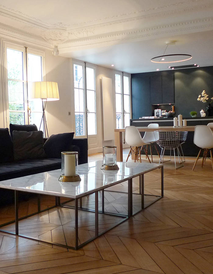 Travaux de r novation dans le style hassmannieni verocotrel - Renovation appartement haussmannien ...