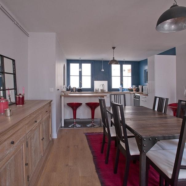 Travaux de rénovation de la salle à manger et de la cuisine