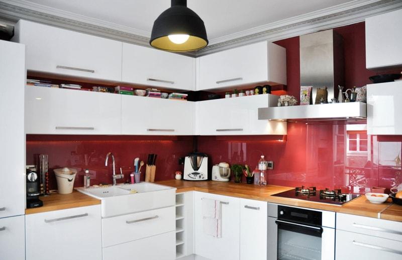 Travaux dans une cuisine d'un appartement haussmannien