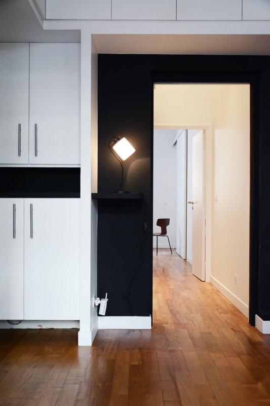 Création d'une ouverture entre les deux appartements