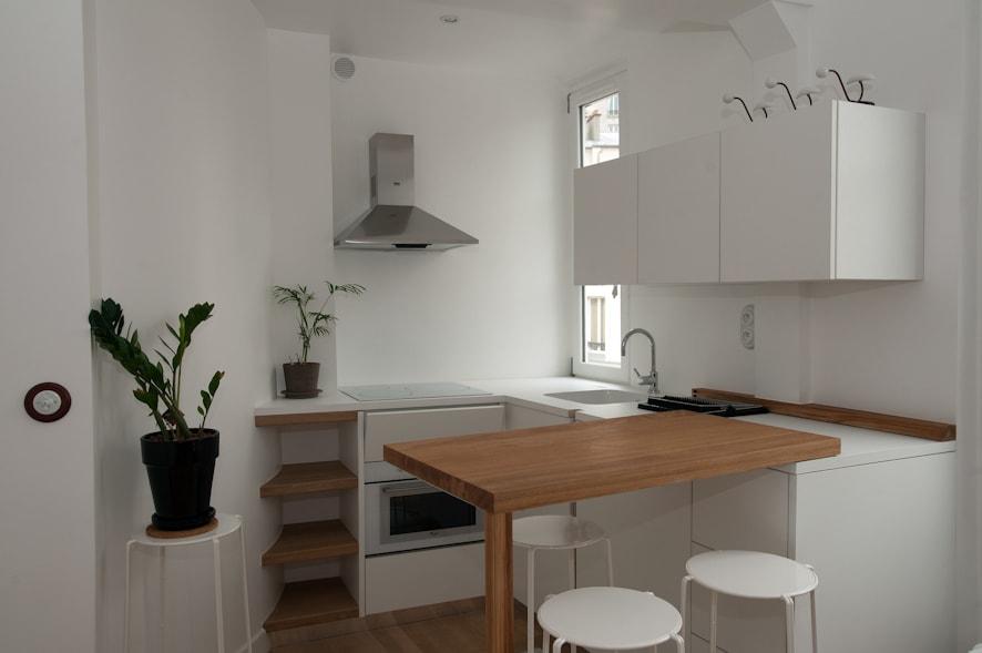 awesome amenagement studio 24m2 images. Black Bedroom Furniture Sets. Home Design Ideas