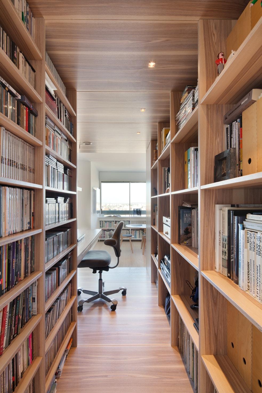 Création d'une bibliothèque et d'un box bureau