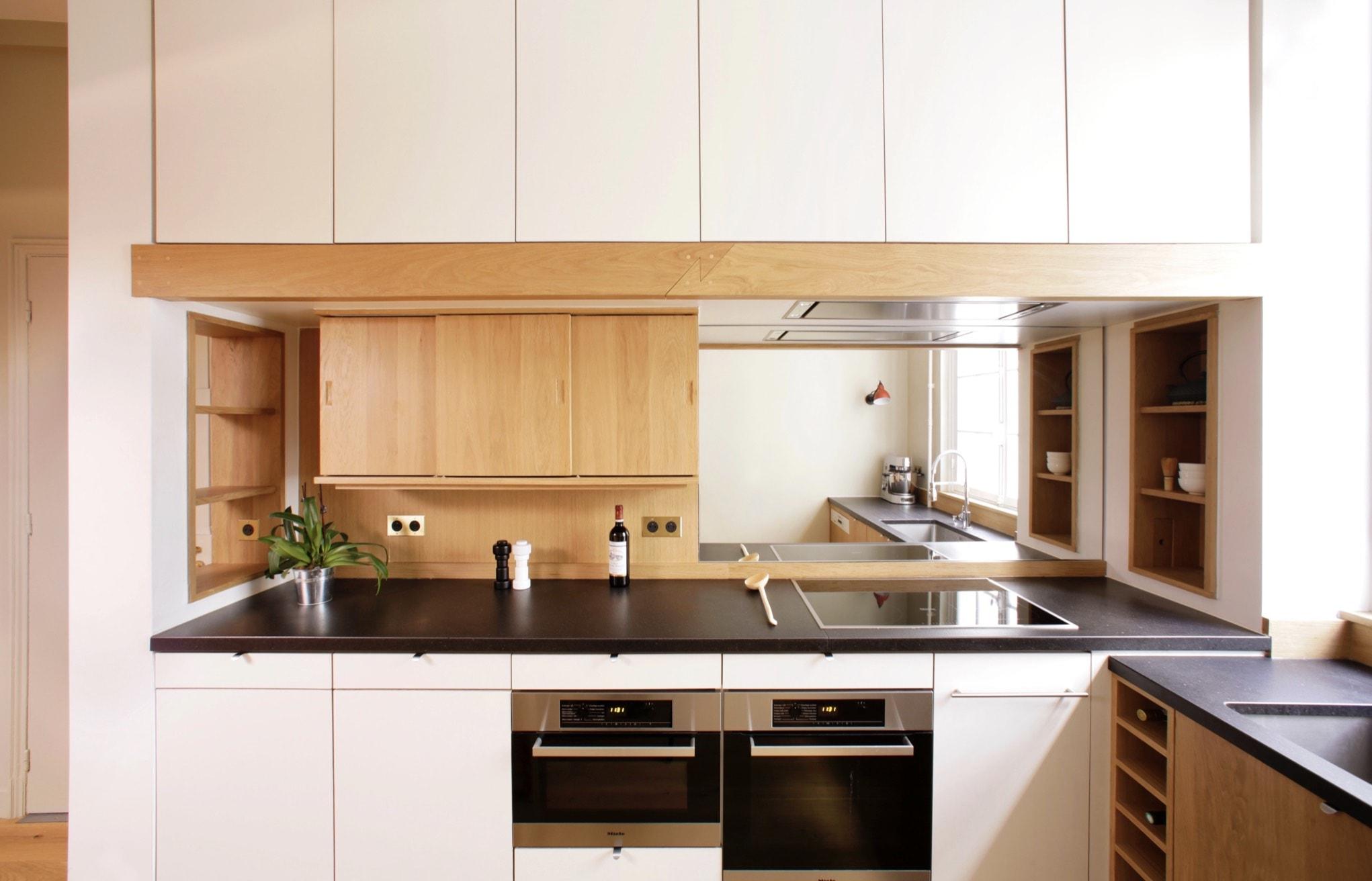 Menuiseries sur mesure pour une cuisine en bois