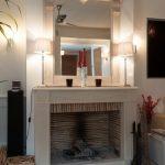 Rénovation d'un salon - cheminée