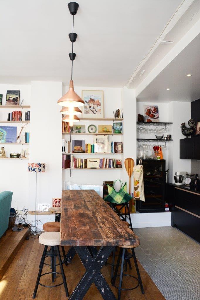 Déco bois pour la rénovation de l'appartement