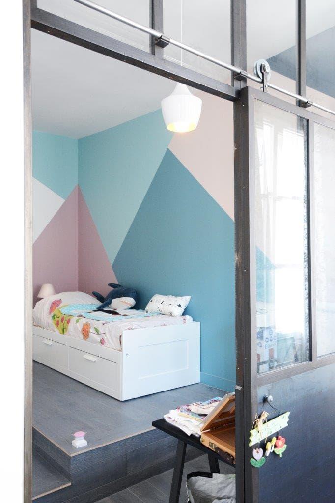 chambre d'enfants bleue