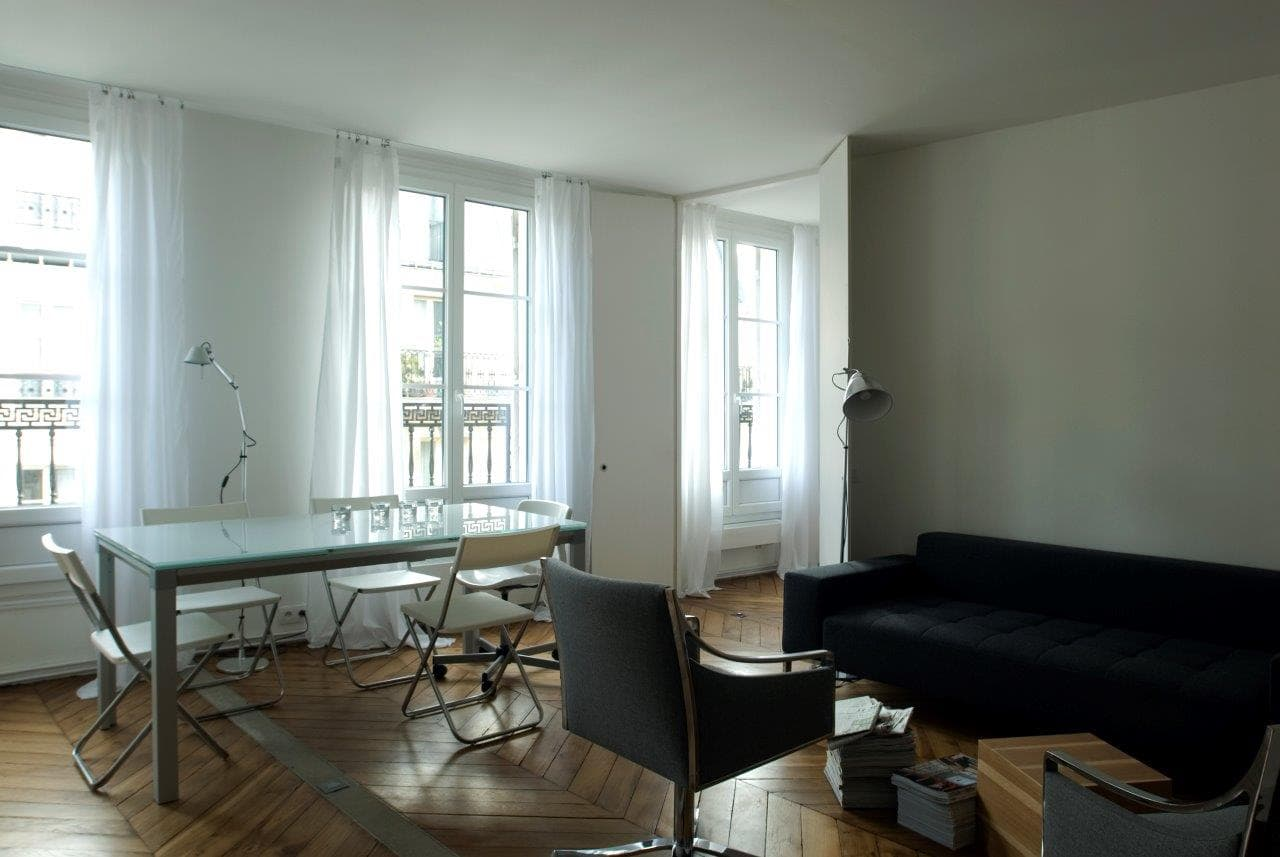 travaux de r novation d 39 un appartement de 80m2 paris. Black Bedroom Furniture Sets. Home Design Ideas