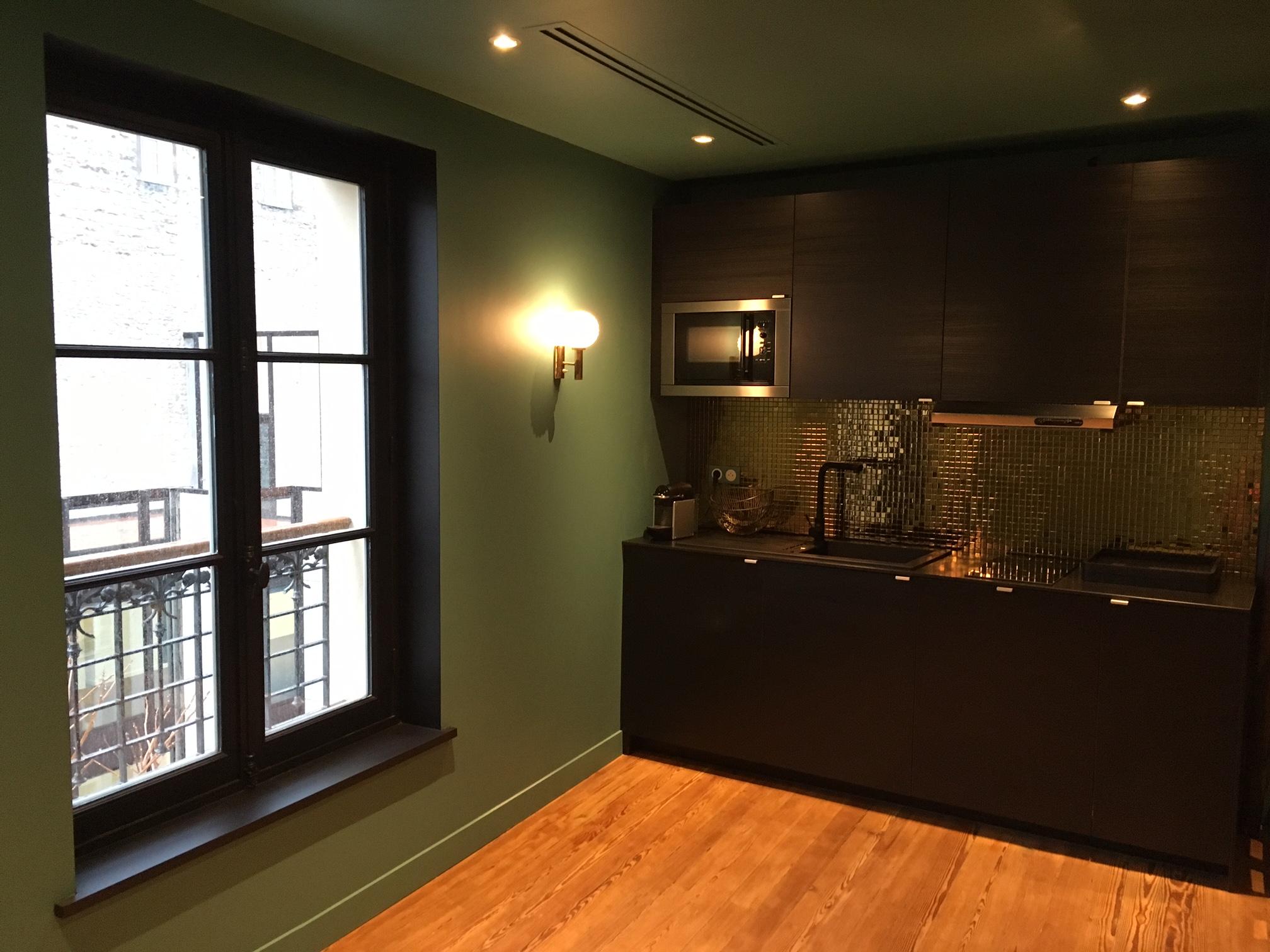 Aménagement d'un coin cuisine pour le grand musée du parfum