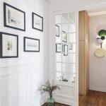 Porte vitrée miroir et rénovation du parquet