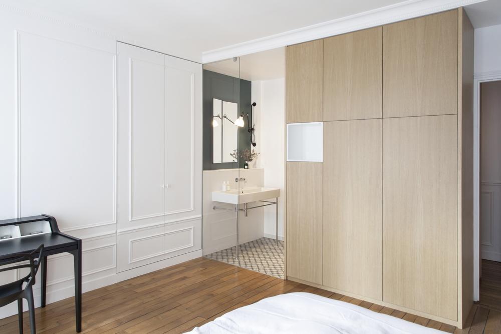 Suite parentale dans un appartement rénové