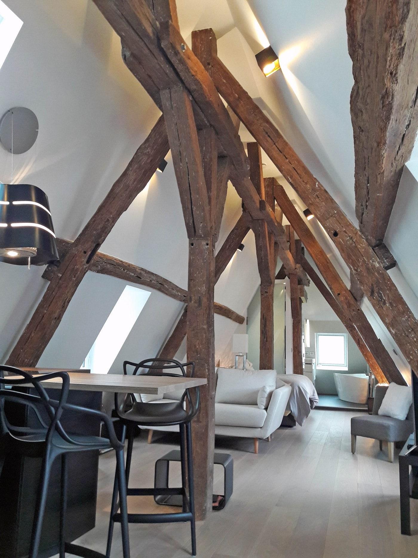 Travaux de rénovation et maitrise d'œuvre d'un appartement parisien sous les toits 7