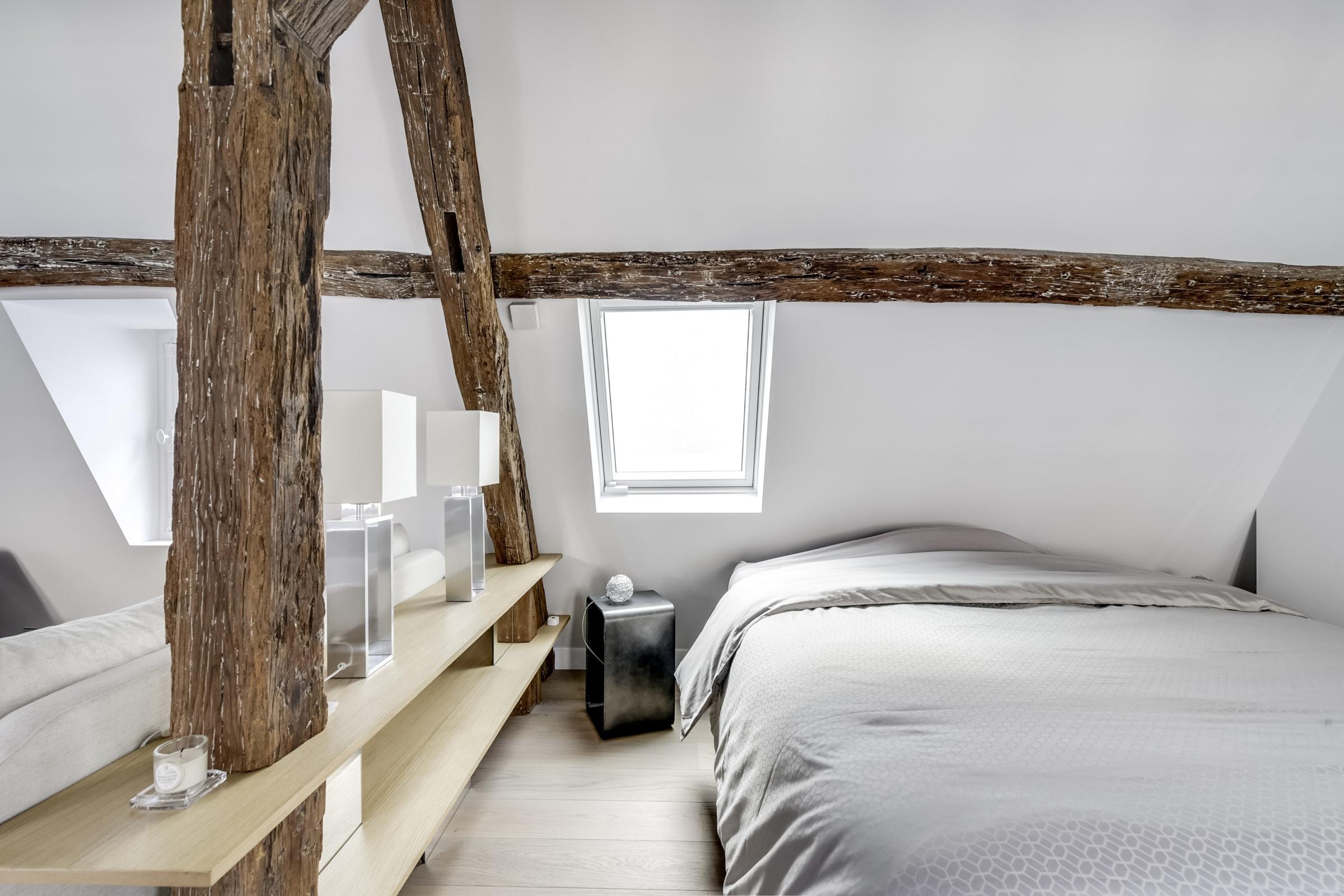 Travaux de rénovation et maitrise d'œuvre d'un appartement parisien sous les toits 15