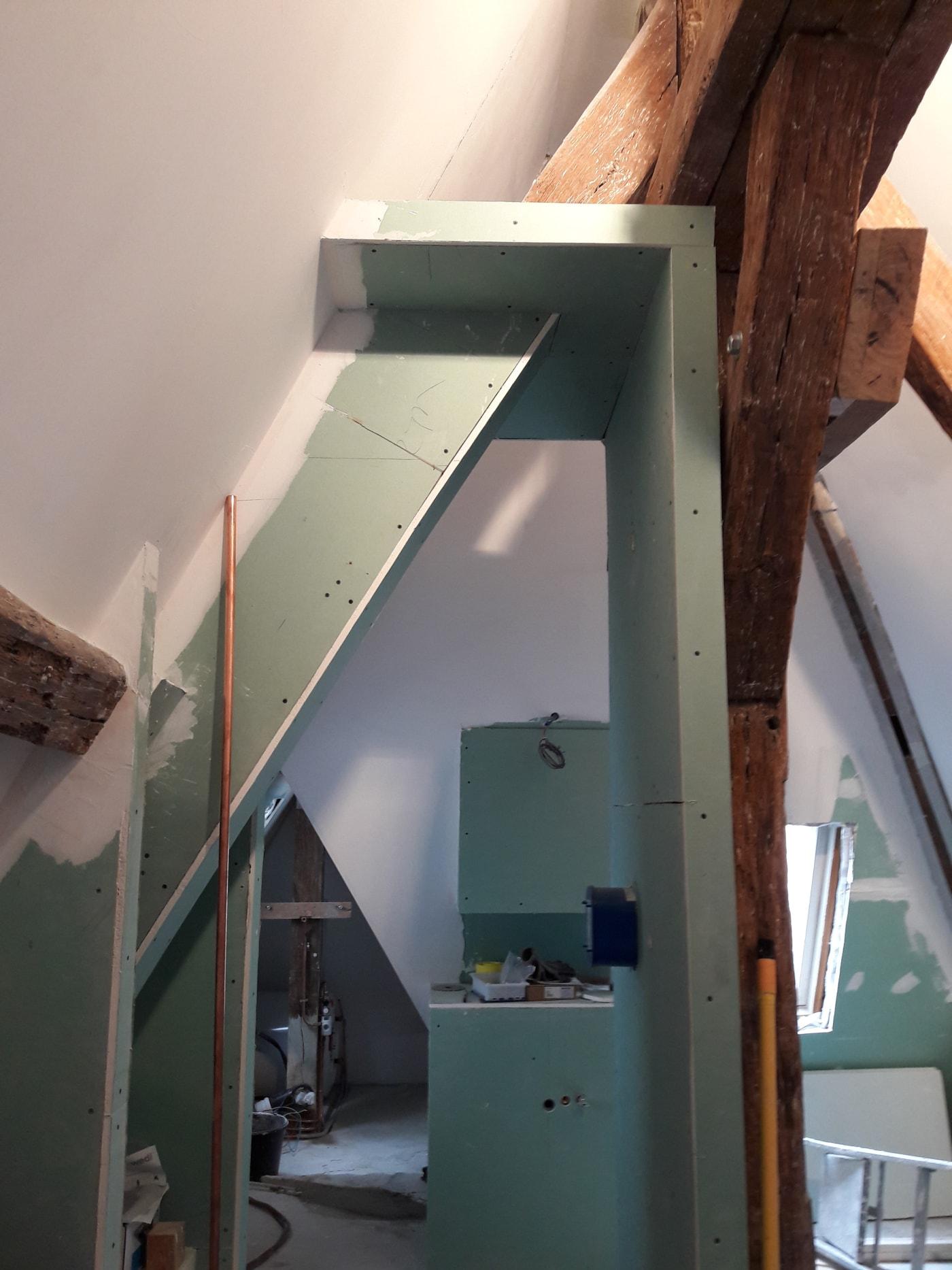 Travaux de rénovation et maitrise d'œuvre d'un appartement parisien sous les toits 17