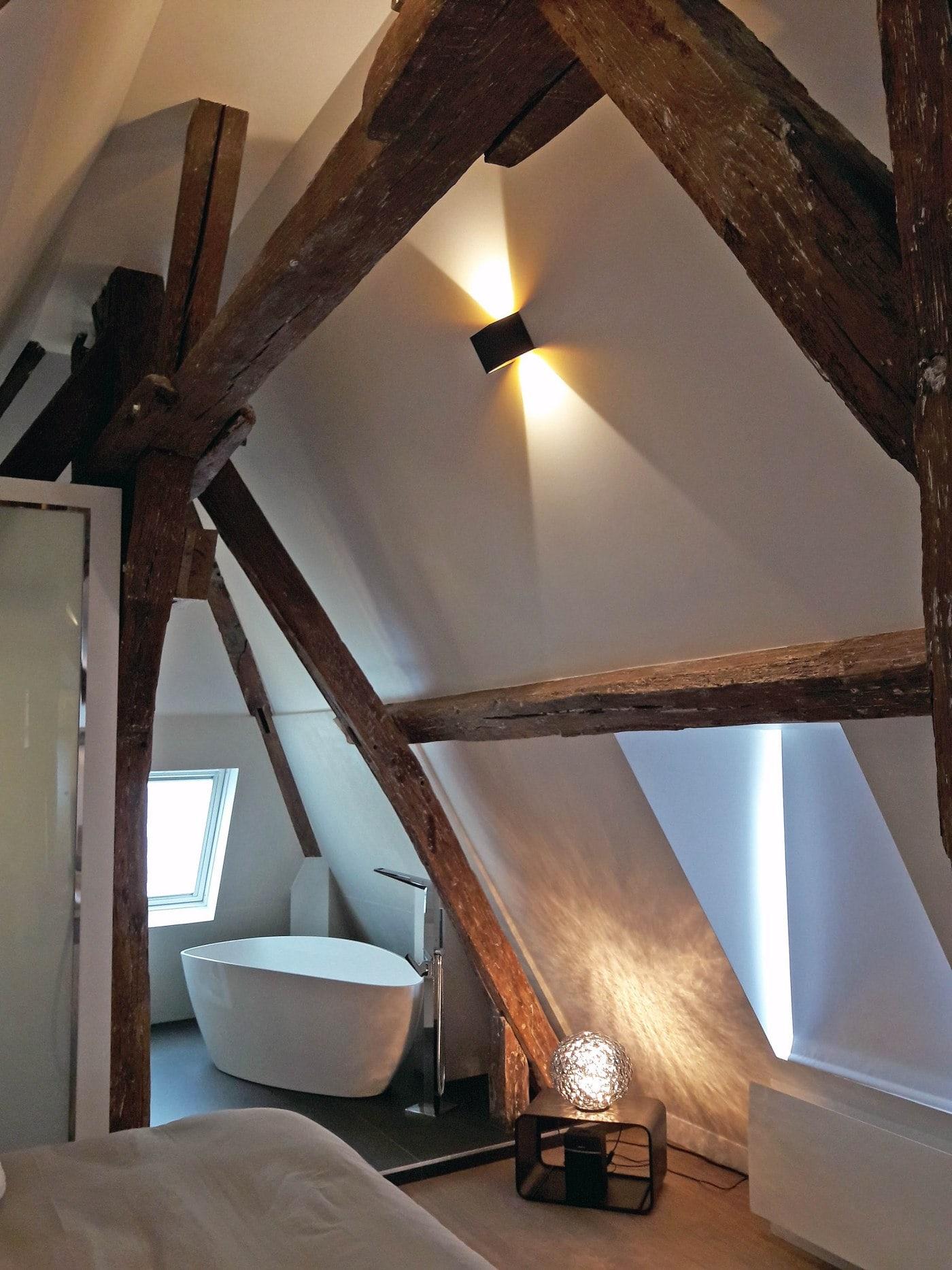 Travaux de rénovation et maitrise d'œuvre d'un appartement parisien sous les toits 19