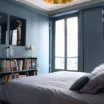 Chambre parentale avec papier peint 2