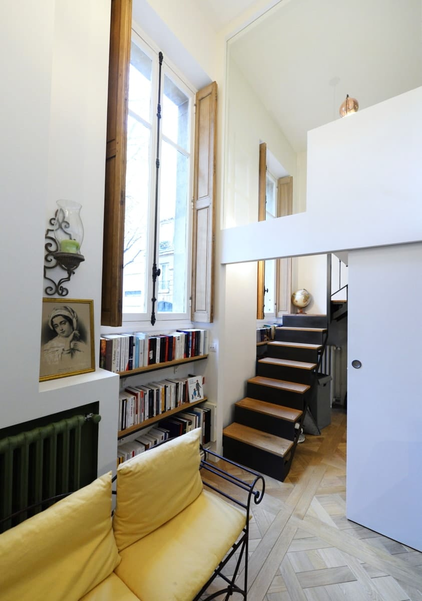 Rénovation d'un appartement haussmanien avec création de mezzanine