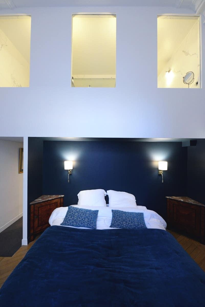 Rénovation d'un appartement haussmanien avec création de mezzanine 15