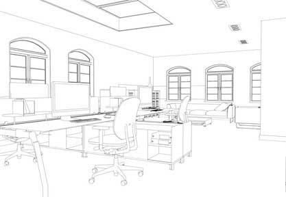 Réimplantation du mobilier de bureau et matériels