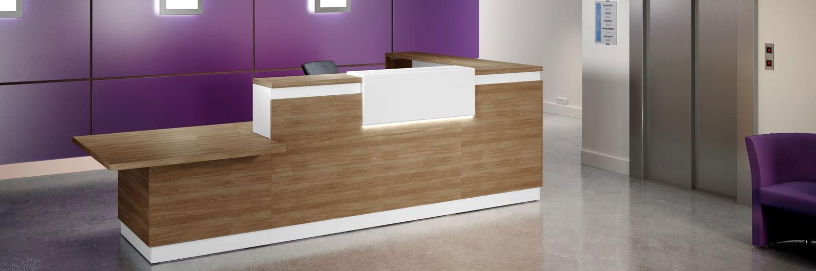 Banque d'accueil un mobilier d'entreprise adapté