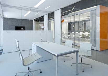 Des meubles de bureau de formes différentes