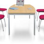 Tables individuelles de salles de réunion