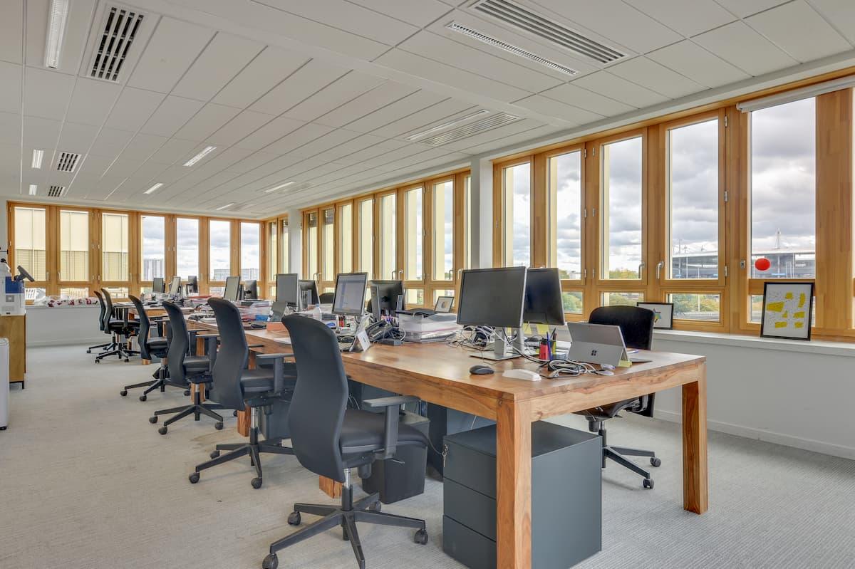Aménagement d'open space pour des bureaux