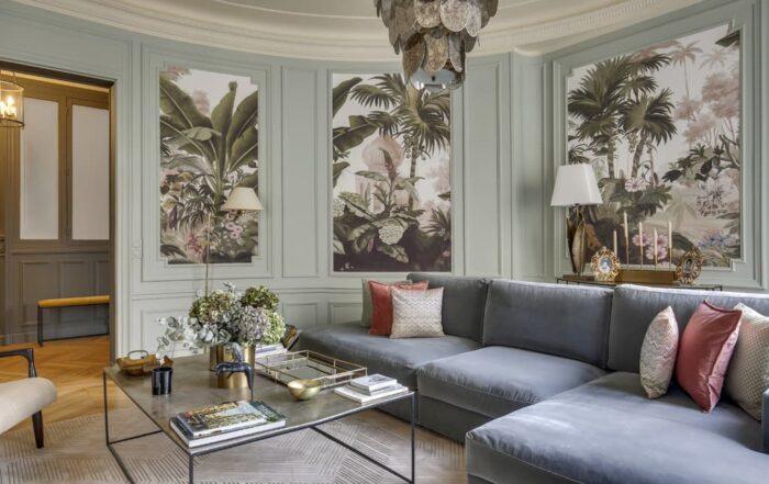 Appartement refait par HUGGY, peinture Argile couleur de terre