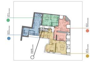 Plan distribution des appartements
